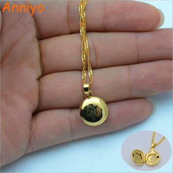 Small Allah Box Pendant Necklace for Women/ Muslim Necklaces Jewelry Girl,Gold Color Islam Prophet Muhammad