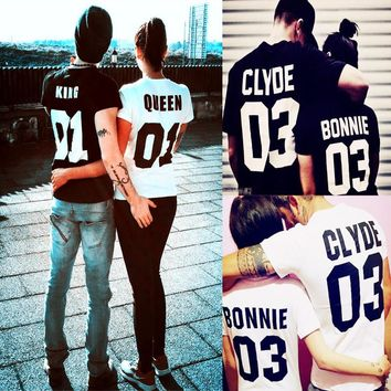 Couples Matching Short Sleeve CLYDE & BONNIE 03 T-shirts
