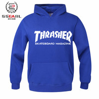 SSEARL. Thrasher Hoodie Hip Hop Men Fashion Sportswear Diamond Sweatshirts Hooded Mens Element Skateboard Pullover Hoodies Men