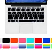 """HRH Russian USA Silicone Keyboard Cover Skin for Macbook New Pro 13"""" A1708 (2016 No Touch Bar) and for Macbook 12""""A1534 Retina"""