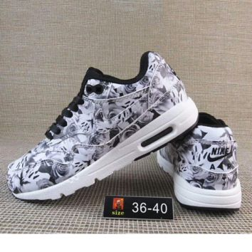 """NIKE"" Print Flower Women Men Casual Running Sport Shoes Sneakers G-A36H-MY"