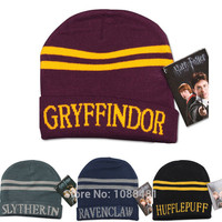 Harry Hat Cap Beanie Preppy Costume Halloween Christmas Gift Slytherin/Gryffindor/Ravenclaw/Hufflepuff Hat for harry potter cos