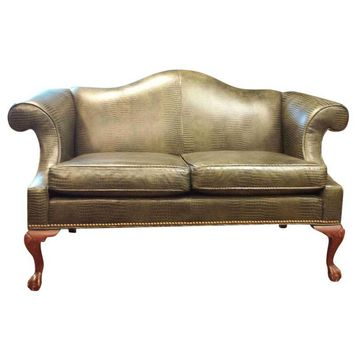 Pre-owned Ethan Allen Leather Loveseat