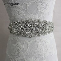 2017 Rushed New Arrival 270cm Crystal Bridal Belt Girdle Handmade Rhinestone Belts Female Wide Wedding For Women Waist C007