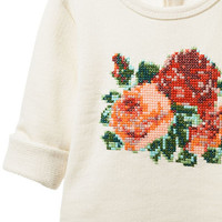 TOP WITH FLORAL PATTERN - Cardigans and sweaters - Baby girl (3 - 36 months) - Kids | ZARA United States