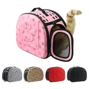 Cat Carrier Foldable With Mesh And Shoulder Strap - S/M/L