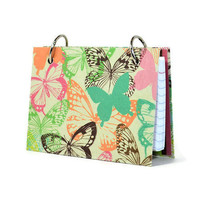 Index card binder with a fluttering butterfly design 369