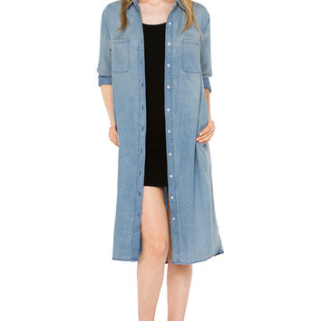 Break My Fall Denim Dress
