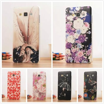 12 Pattern, A3 Fashion 3D Diamond Dimensional Relief Painted Case Cover For SAMSUNG GALAXY A3 A300 A3000 Mobile Phone Bag
