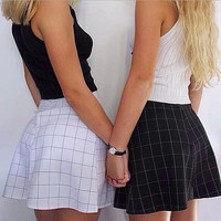 Fashion plaid skirts OHGEJ