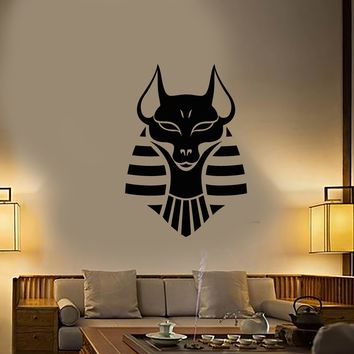 Vinyl Wall Decal Anubis Ancient Egyptian God Stickers (3065ig)