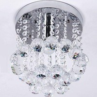 Hannah Mini Flush Mount Crystal Chandelier