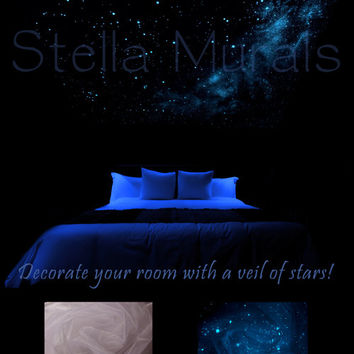 """Glow in the Dark Star Ceiling Canopy - White - The Southern Cross - 5'10"""" x 5'10"""""""