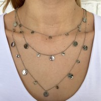 Silver Sunshine Layered Necklace