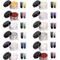 New Glitter Mirror Chrome Effect Dust Shimmer Nail Art Powder