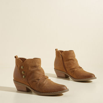 Trek It Out Ankle Bootie