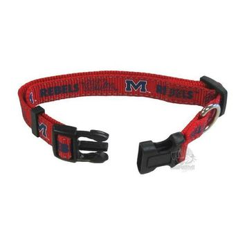 DCCKT9W Ole Miss Rebels Pet Reflective Nylon Collar