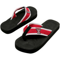 Texas Tech Red Raiders Unisex Basic Flip Flops - Black-Scarlet
