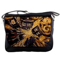 Doctor Who Tardis Vincent Van Gogh Messenger Bag