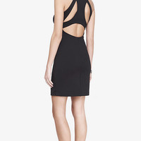 CUT-OUT RACERBACK SCUBA KNIT SHEATH DRESS from EXPRESS