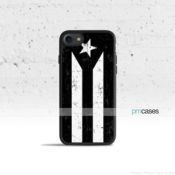 Black Puerto Rico Flag Phone Case Cover for Apple iPhone iPod Samsung Galaxy S & Note