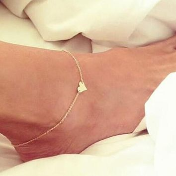 Heart Beach Barefoot Sandals Anklet Chain Girl Silver Gold Foot Bracelets Fashion Jewelry for Women Barefoot