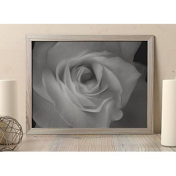 Reiki Charged Black and White Rose Poster Bohemian Art Print Poster  Design no frame 20x30 Large