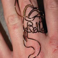 Wire Wrapped Beauty and the Beast's Belle MADE to ORDER Ring