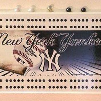 New York NY Yankees MLB Licensed Cribbage Board NEW FREE US SHIPPING