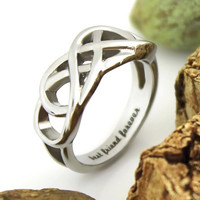 "Friend Ring Infinity Ring Promise Double Infinity Symbol Ring ""Best Friend Forever"""