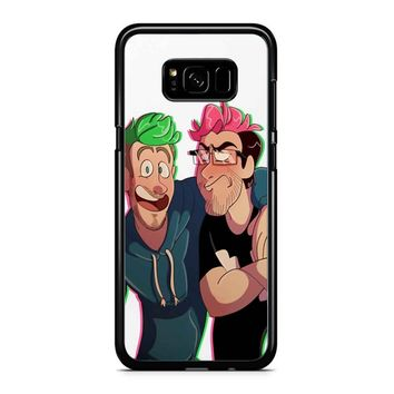 Flamingo Parrot Markiplier Jacksepticeye Samsung Galaxy S8 Plus Case