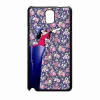 Mickey Mouse The Wizard Floral Vintage Samsung Galaxy Note 3 Case