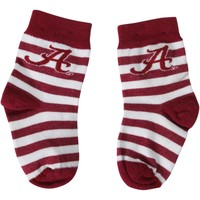 Alabama Crimson Tide Infant Rugby Stripe Socks – Crimson