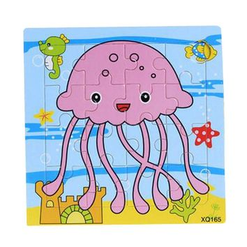 Set Of 2 Cute Jellyfish Children Puzzles Baby Early Educational