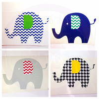 5 x 3.5 Elephant Vinyl Decal - Mix and Match Patterns and Colors - Great for Alabama Fan Sorority Girl Student Alumni