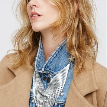 Free People Swag Chainmail Bandana Pin