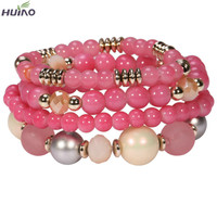 2015 Top Fashion Special Offer Zinc Round Bracelets & Bangles Bracelet Loom Band High Quality Small Moq Pearl Bead Lady Bracelet
