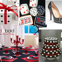 Casino Night Party Ideas - Polka Dots - Black & Red