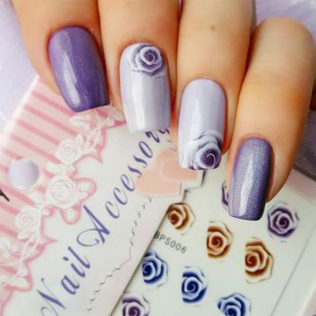 Flower Nail Art Water Decals Charming Fantastic Rose Nail Tips Stickers Transfer Sticker DIY Nail Accessories Water Slide