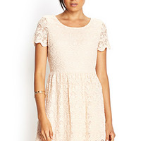 FOREVER 21 Embroidered Shift Dress Blush