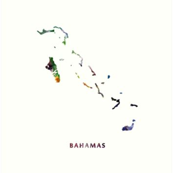 'Bahamas' Art Print by MonnPrint