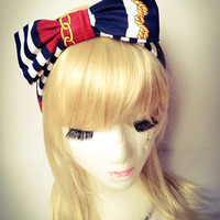 Handmade retro chic Gorgeous bow head band :) Stretch Comfortable Cute xoxoxo
