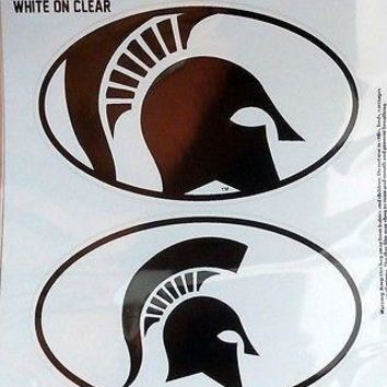 Michigan State Spartans 2-Pack EURO STYLE Vinyl Oval Home Auto Decals University