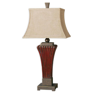 Uttermost 26465 Rosso Golden Bronze One-Light Table Lamp