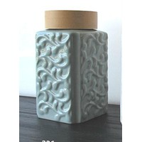 Glazed Ceramic Tea Canister