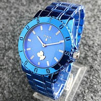 TOUS Fashion Women Men Quartz Classic Wristwatch Watch Blue