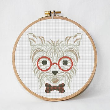 dog Cross Stitch pattern, dog Pattern, Modern Cross Stitch, Animal Cross Stitch,  creative design art work