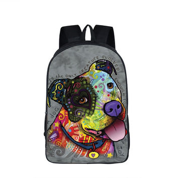 Cute Pit Bull Backpack
