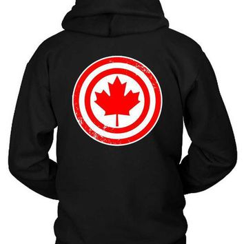 Marvel Captain Canada Hoodie Two Sided