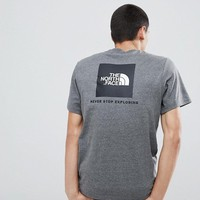 The North Face Red Box T-Shirt in Grey at asos.com